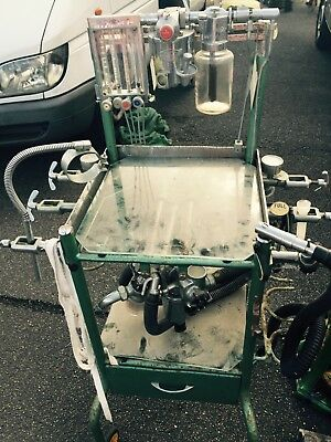 Vintage anaesthetic theatre trolley with instruments