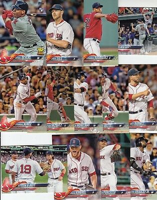 Topps 2018 Series 1 Complete Set of the BOSTON RED SOX