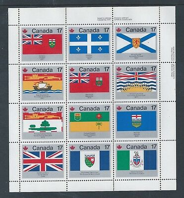 Canada Provincial & Territorial Flags #832a UR Full Pane MNH ** Free Shipping **