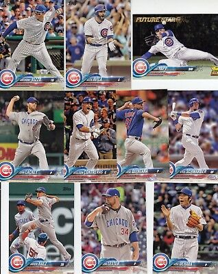 Topps 2018 Series 1 Complete Set of the CHICAGO CUBS