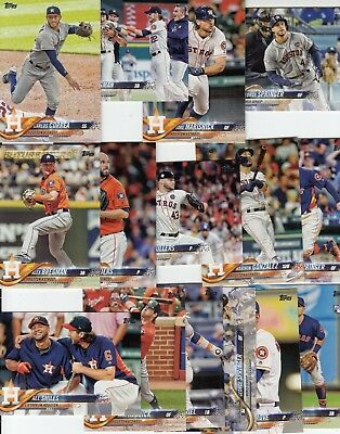 Topps 2018 Series 1 Complete Set of the HOUSTON ASTROS