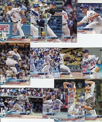 Topps 2018 Series 1 Complete Set of the LOS ANGELES DODGERS