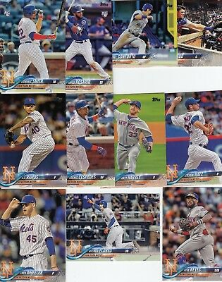 Topps 2018 Series 1 Complete Set of the NEW YORK METS