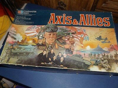 MB AXIS&ALLIES Gamemaster Series Board Game (1987)