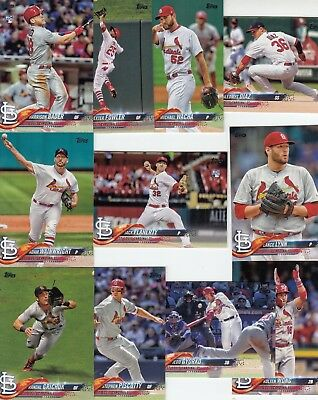 Topps 2018 Series 1 Complete Set of the ST. LOUIS CARDINALS