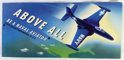 Vintage Navy Aviator Ink BLOTTER Naval Jet Above All Be A Naval Aviator Car