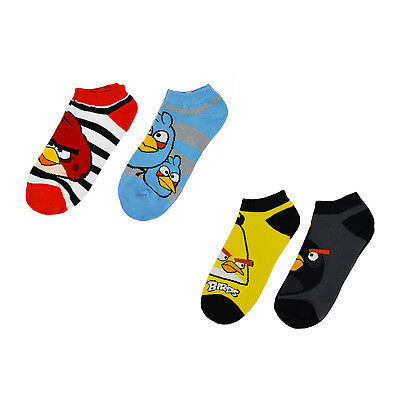 2-Pack Angry Birds Birds Have It Low Rise Boys Girls Kids Socks Size 9-11 Large