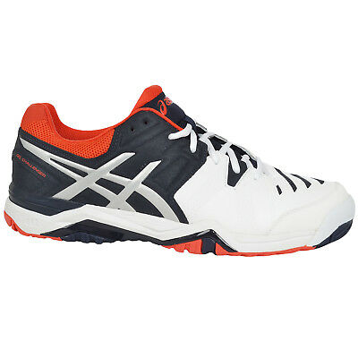 asics Mens GEL Challenger 10 Tennis Court Sports Training Shoes Trainers - White