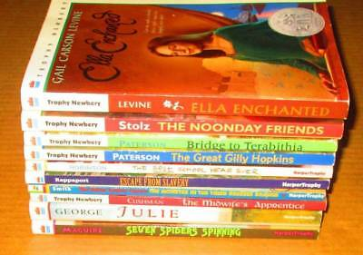 HARPER TROPHY Lot of 10-Levels-SOFTCOVERS - Chapter Books/AWARD Winners,..