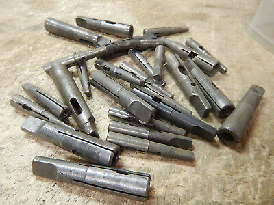 Small Lot Of Drill Taper Adapters No. 1Mt No. 2Mt Machinist Tooling