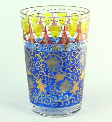! Antique 1842-1887 DAVIS COLLAMORE & CO. New York Enameled Glass Tumbler Cup #1
