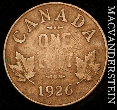 Canada: 1926 One Cent- Semi-Key !! Better Date !! #w8736