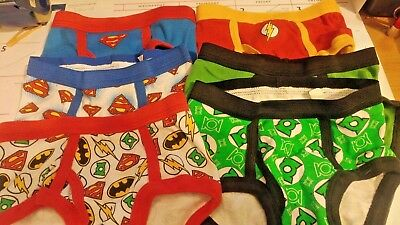 "Toddler ""justice League"" Boys` Briefs - 7 Pack / Size 4T"