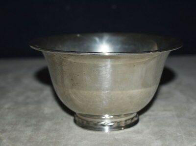 Beautiful Vintage Solid Sterling Silver Footed Revere Style Bowl - Towle