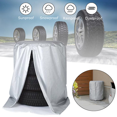 """Car SUV Tire Storage Bag Spare Wheel Dustproof Protective Cover 32"""" Holds 4 Tire"""