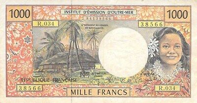 French Pacific Territories 1000 Francs Note 1996 Circulated P-2