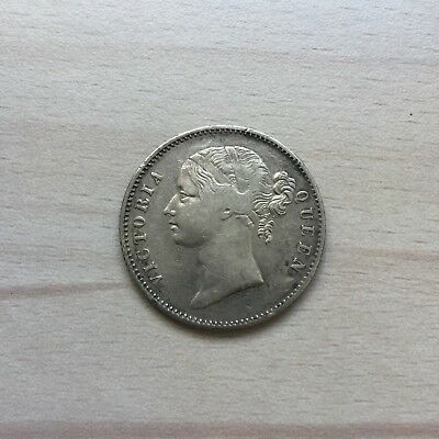 Nice East India Company EIC 1840 Queen Victoria 1 Rupee silver coin