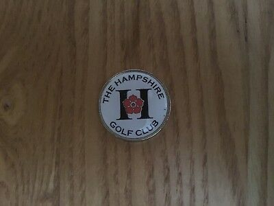 "FLAT 1"" The Hampshire Golf Club ball marker"
