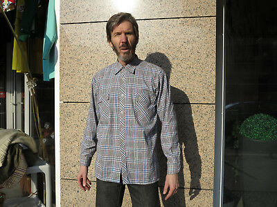 kariertes Herren Hemd 80/90er True VINTAGE 80/90´s men shirt checked light
