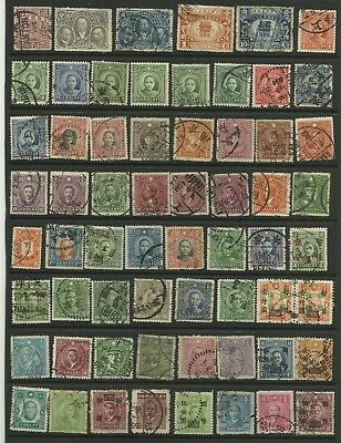A Selection of Used Chinese Stamps on Hanger page.