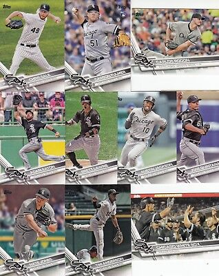 Topps 2017 Complete Set Chicago White Sox-21 Cards