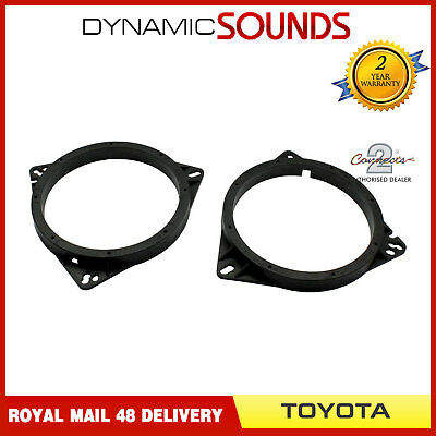 CT25TY02 165mm Front Door Speaker Adaptor Kit Rings For Toyota Yaris