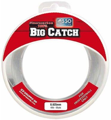 Asso Big Catch 100% Fluorocarbon in 50yd spools