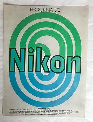 Nikon Photokina 1970 Fold out Brochure