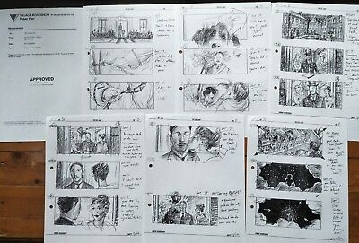 Production Used Copy Storyboards Storyboard Art & Cover Memo Peter Pan Movie