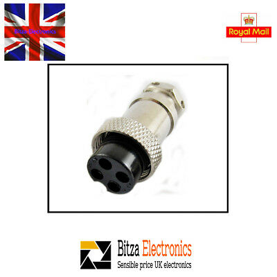 4 Pin CB Radio Mic Plug with cable grip - UK Seller