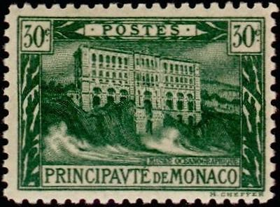 """MONACO STAMP TIMBRE N° 55 """" MUSEE OCEANOGRAPHIQUE 30c VERT FONCE """" NEUF X TB"""