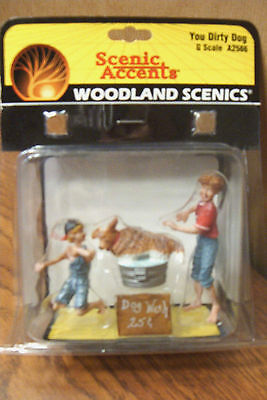 Woodland Scenics You Dirty Dog G Scale Figures
