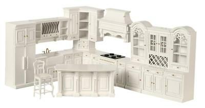 Melody Jane Dolls House White Fitted Kitchen Furniture Set Platinum Collection