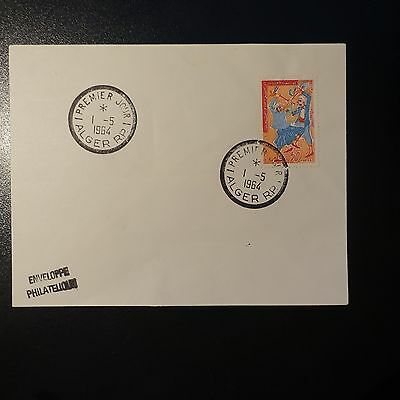 ALGERIA N°385 ON LETTER COVER 1st DAY FDC