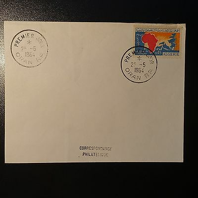 ALGERIA N°386 ON LETTER COVER 1st DAY FDC
