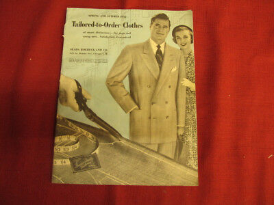 1952 Sears Roebuck Mens Clothing Catalog-Cloth Swatches-Spring-Summer