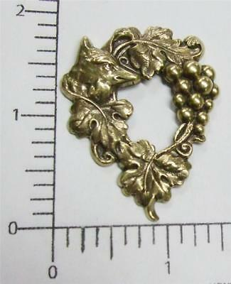 33953          Brass Oxidized Victorian Fox & Grapes Jewelry Finding