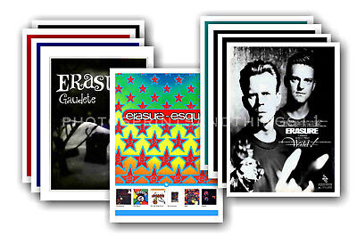 ERASURE - 10 promotional posters  collectable postcard set # 3