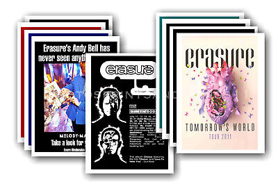 ERASURE - 10 promotional posters  collectable postcard set # 4