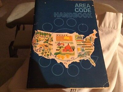Vintage US & Canada Area Code Handbook 1962 New Jersey Bell Telephone Company