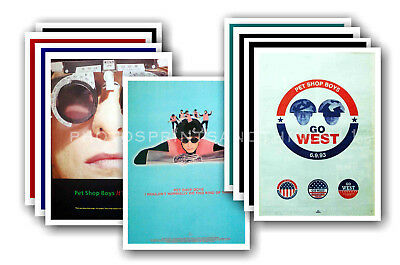 PET SHOP BOYS - 10 promotional posters  collectable postcard set # 4