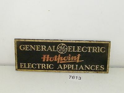 General Electric GE Hotpoint Electric Appliances Advertising Sign Plaque