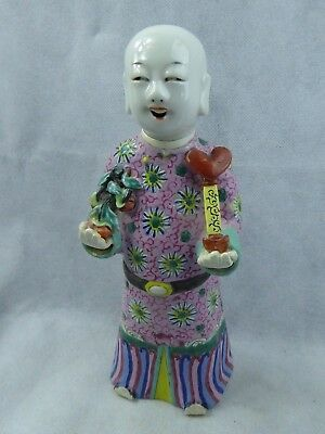 Chinese Antique Porcelain Court Figure Incense Burner - Early C19th Famille Rose