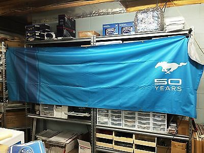 New Ford Mustang 50Th Anniversary Banner! Dealer Only Very Rare 10 Ft By 3 Ft.