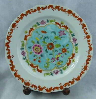Chinese Antique 18th/19th Pre Bencharong / Nyonya Porcelain Plate Straits Rare