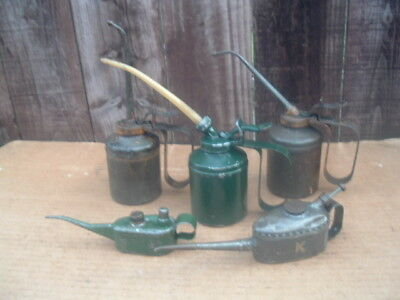 Vintage Kayes Pie Crust Oil Can,Wesco oil can,I think a Sutcliffe oil can steam