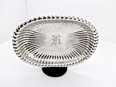 Lovely Vintage Gorham Fully Fluted Sterling Silver Bonbon Candy Dish Bowl,clean