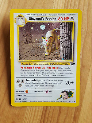 Giovanni's Persian  8/132 - HOLO - Gym Challenge (eng)  (sd057) Pokemon