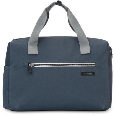 "Pacsafe Intasafe Brief Anti-Theft 15"" Laptop Bag With Smart Zipper Security-Blue"