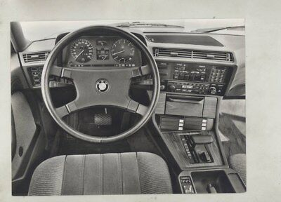 1984 BMW 745 745i Interior ORIGINAL Factory Photograph wz0399